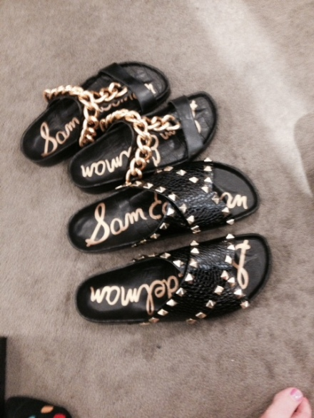 Sam Edelman Black and Gold Sandals!